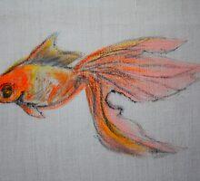 Goldfish Pond ( close up #9) by Ming  Myaskovsky