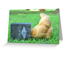 Nosy Hen Greeting Card