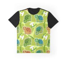 Funny pattern with cute turtle. Graphic T-Shirt