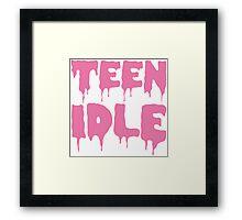 Marina and The Diamonds - Teen Idle (Pink) Framed Print