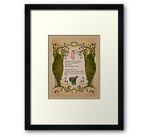 Piggy sells his Ring Edward Lear Project Framed Print