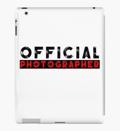 official photographer iPad Case/Skin