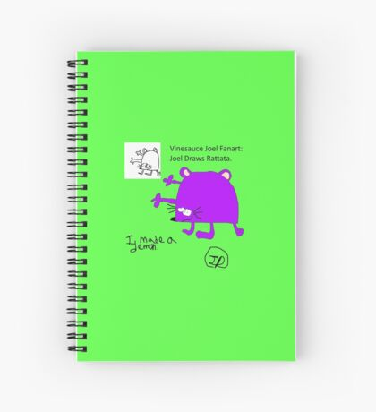 Joel's Rattata Fanart Spiral Notebook