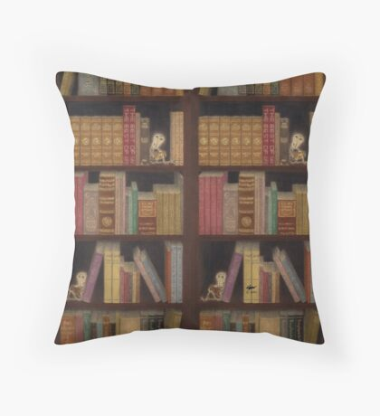 Bookcase Throw Pillows & Totes Throw Pillow