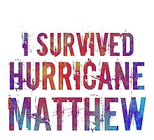 I Survived Hurricane Matthew  Photographic Print