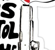 hamilton- the world was wide enough Sticker