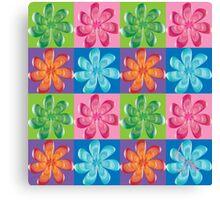 Multi colored flowers - digital art Canvas Print