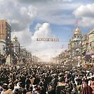 The Rex pageant, Mardi Gras Day, New Orleans, 1907 Colorized by Sanna Dullaway