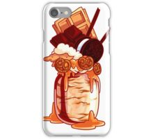 Giant milkshake with waffle, ice cream, chocolate, cookie and caramel. iPhone Case/Skin