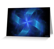 Blue Pinwheel Greeting Card