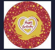 Happy Birthday Circle One Piece - Long Sleeve