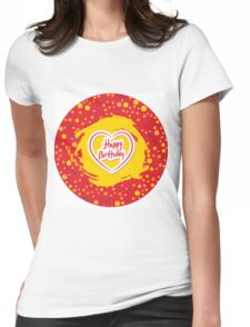 Happy Birthday Circle Womens Fitted T-Shirt