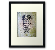 End War Framed Print
