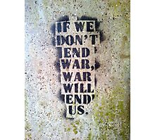 End War Photographic Print