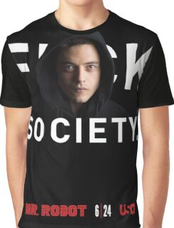 Mr Robot - Fuck Society Graphic T-Shirt