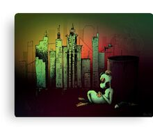 Rat In The City Canvas Print