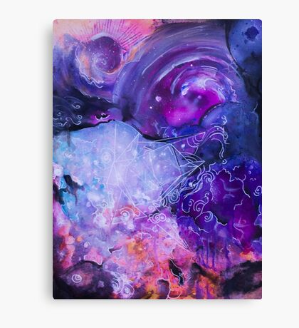 Clouds and vectors Canvas Print