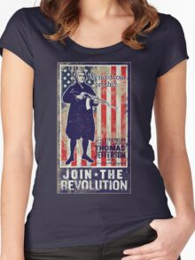 Jefferson Revolution Propaganda Women's Fitted Scoop T-Shirt