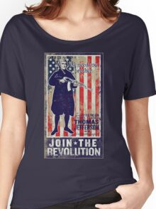 Jefferson Revolution Propaganda Women's Relaxed Fit T-Shirt