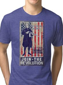 Jefferson Revolution Propaganda Tri-blend T-Shirt