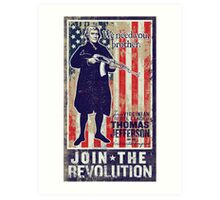 Jefferson Revolution Propaganda Art Print