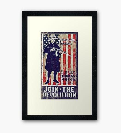 Jefferson Revolution Propaganda Framed Print