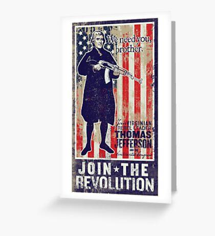 Jefferson Revolution Propaganda Greeting Card