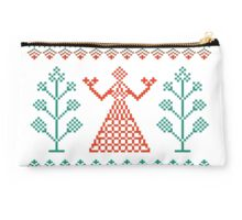 Traditional ornament woman Studio Pouch