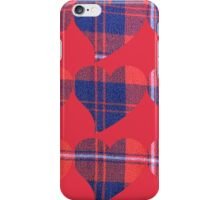 Heart plaid iPhone Case/Skin