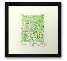 USGS TOPO Map Arkansas AR Holly Grove 260095 1940 62500 Framed Print