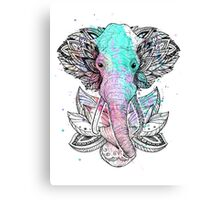 ELEPHANT IN THE LOTUS Canvas Print