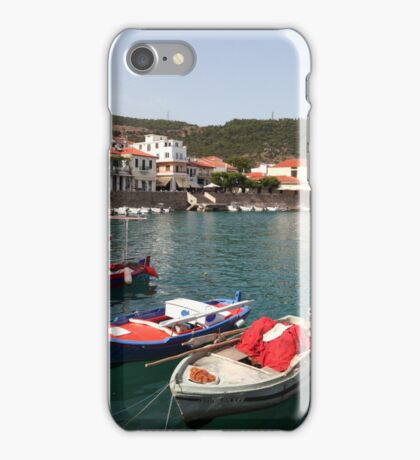 Nafpaktos harbour iPhone Case/Skin