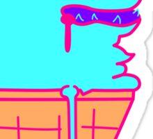 Blue Ice Cream Dog Sticker