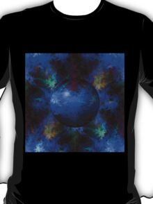 Abstract Blue Globe T-Shirt
