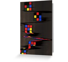 Rubix cube melting Greeting Card