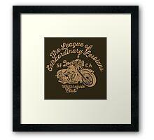 LXL - Motorcycle Club Framed Print