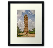 Tower of Victory - Chittorgarh - India Framed Print