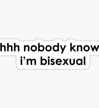 nobody knows - bisexual Sticker