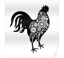 Steampunk rooster Poster
