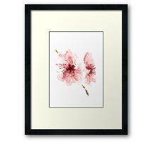 Cherry Blossom Picture Watercolour Drawing Nursery Poster Illustration Framed Print