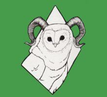 Great Horned Barn Owl Kids Tee