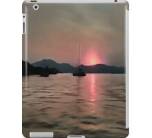 Sunset Shores In Pink And Grey iPad Case/Skin