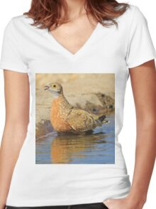 Burchell's Sand-grouse - Life Quenching Water Women's Fitted V-Neck T-Shirt