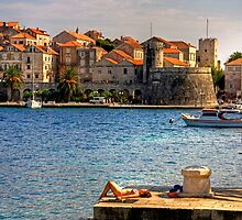 Korcula Harbour by Tom Gomez