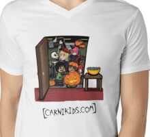 Carnikids: Trick-or-Treat Color (Light) Mens V-Neck T-Shirt
