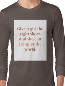 Rose gold shoe love Long Sleeve T-Shirt