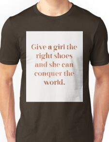 Rose gold shoe love Unisex T-Shirt
