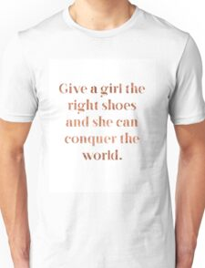 Rose gold shoe love Unisex T-Shirt