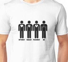 Optimist, Pessimist, Realist, Warbirds Unisex T-Shirt