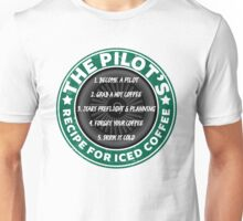 Funny Pilot's Iced Coffee Recipe Unisex T-Shirt